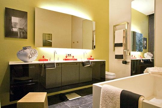 Id e d co salle de bain jaune - Decoration salle de bain jaune et bleu ...