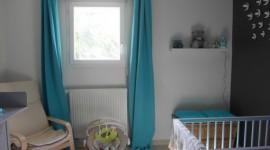 ambiance chambre bébé turquoise