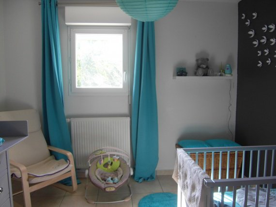 Ambiance chambre b b turquoise for Ambiance chambre enfant