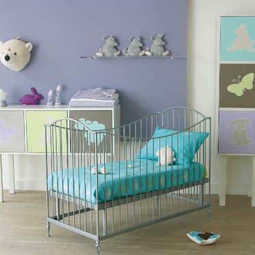 Mod le ambiance chambre b b turquoise for Ambiance chambre enfant