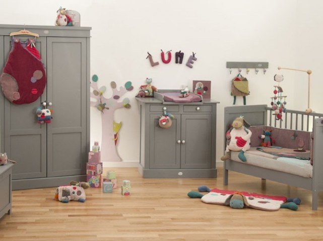Guide ambiance chambre fille gris et blanc - Ambiance chambre fille ...