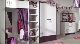 ambiance chambre fille violet