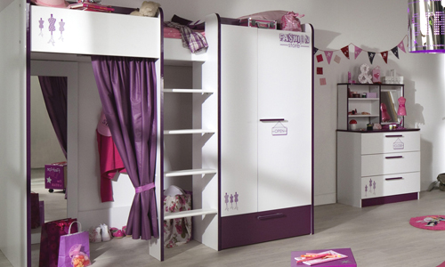 ambiance chambre fille violet. Black Bedroom Furniture Sets. Home Design Ideas