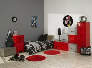 Ambiance chambre gar on rouge Chambre garcon rouge