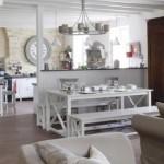 ambiance salle à manger gris et blanc