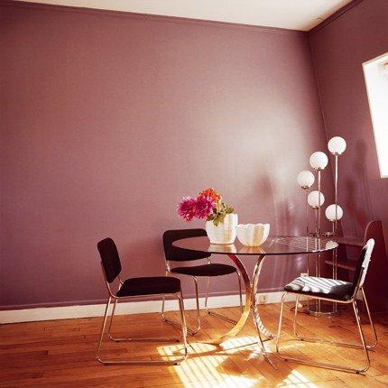 Jolie ambiance salle manger gris et violet for Ambiance salle a manger