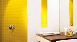 ambiance salle de bain jaune