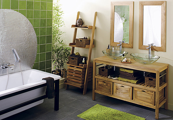 ambiance salle de bain nature. Black Bedroom Furniture Sets. Home Design Ideas