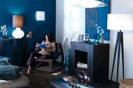 Quelle ambiance salon bleu for Deco salon bleu petrole