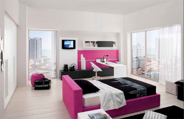 Chambre new york fille rose - Voilage chambre fille ...