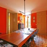 déco salle à manger orange