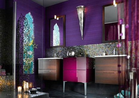 jolie d co salle de bain orientale. Black Bedroom Furniture Sets. Home Design Ideas