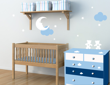 Conseil d coration chambre b b stickers for Conseil chambre bebe