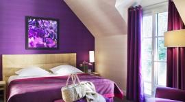 décoration chambre violet