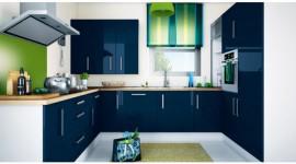 décoration cuisine bleu