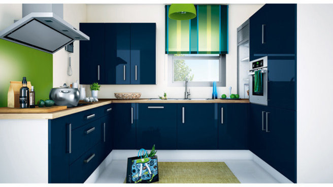 d coration cuisine en bleu. Black Bedroom Furniture Sets. Home Design Ideas