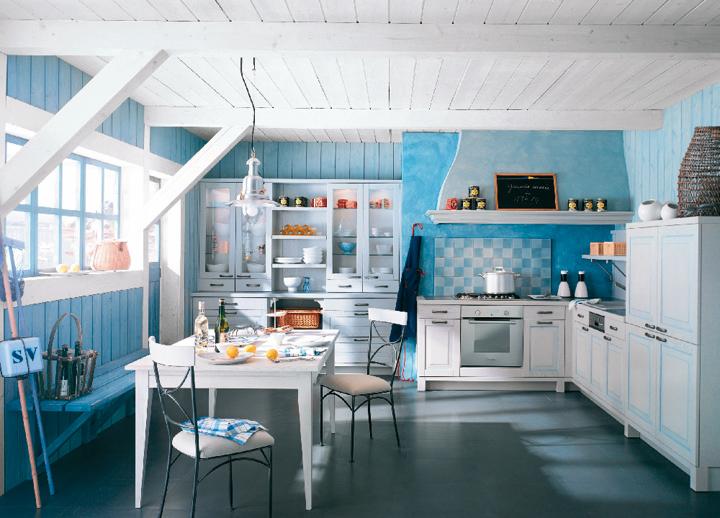 style d coration cuisine bleu