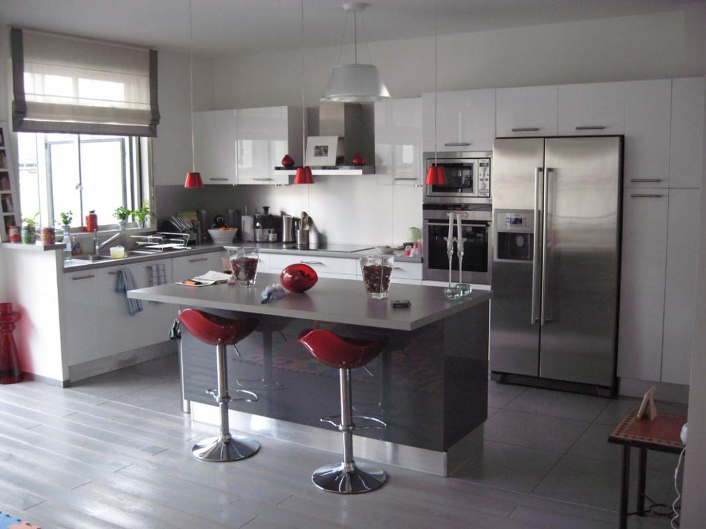 quelle décoration cuisine gris et blanc