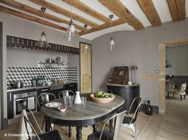 D coration cuisine industriel for Decorations cuisine maison