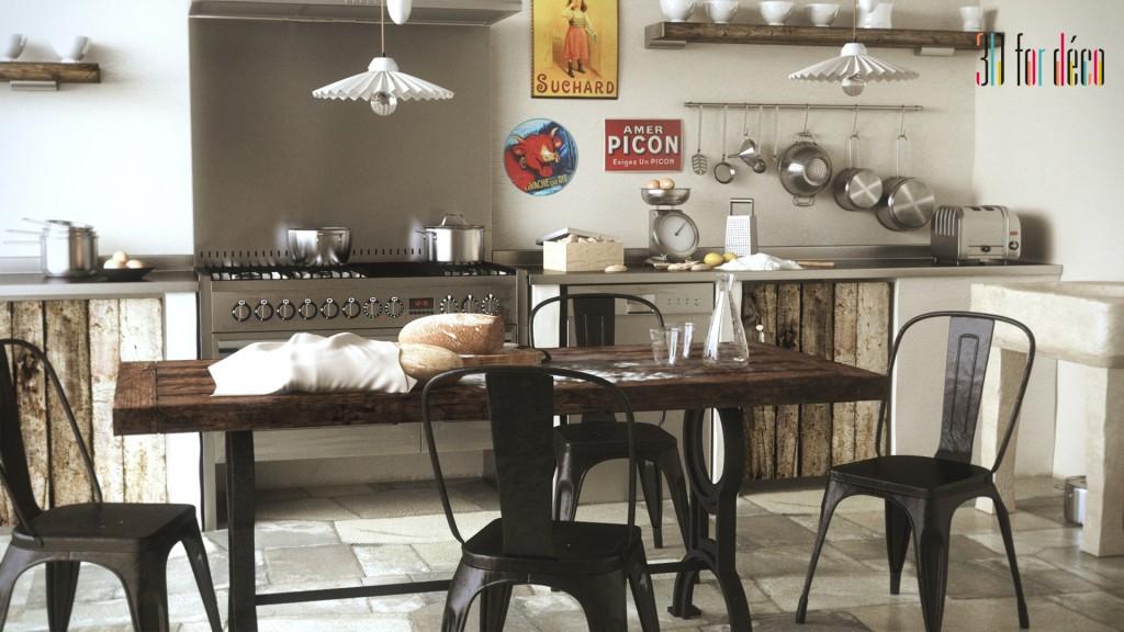 décoration cuisine industriel