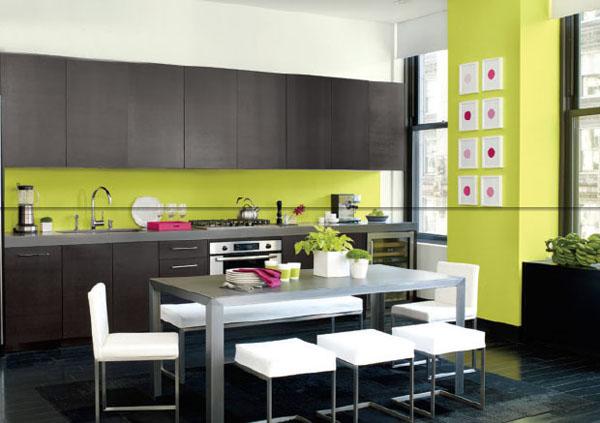 décoration cuisine vert