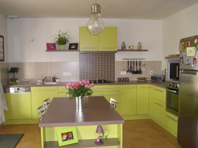 Jolie d coration cuisine vert for Jolie decoration maison