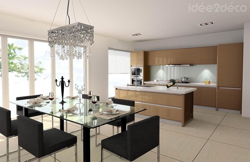 d coration salle manger marron. Black Bedroom Furniture Sets. Home Design Ideas