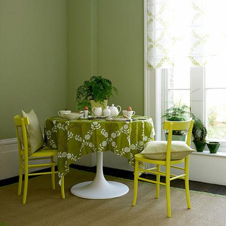 conseil d coration salle manger vert