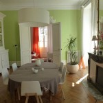 décoration salle à manger vert