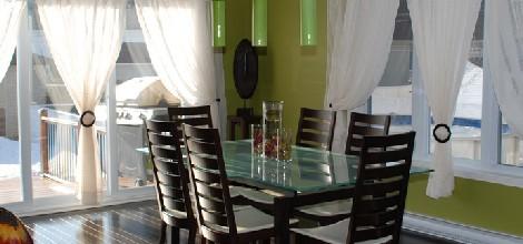 Style d coration salle manger vert for Salle a manger vert