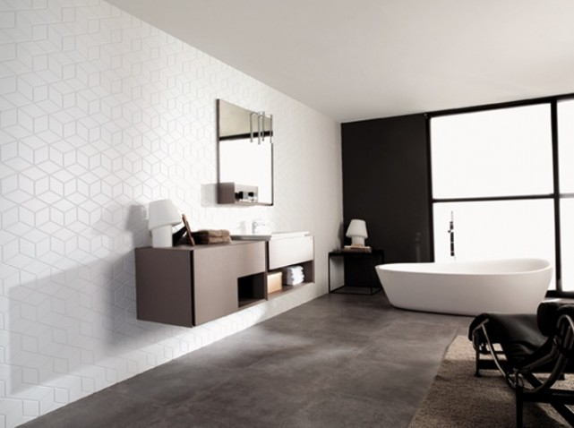 jolie d coration salle de bain design. Black Bedroom Furniture Sets. Home Design Ideas