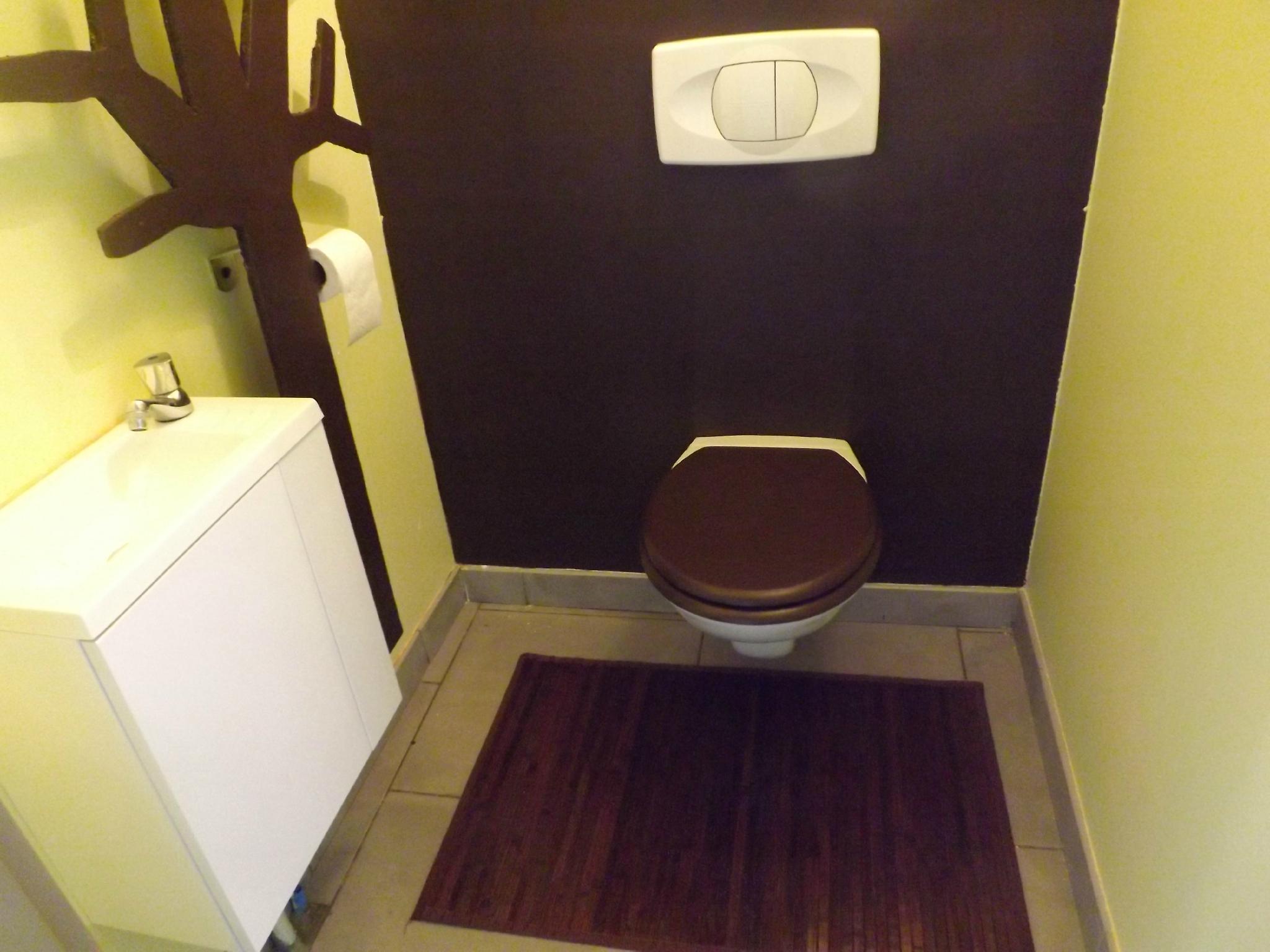 D coration wc toilettes nature for Decoration wc zen