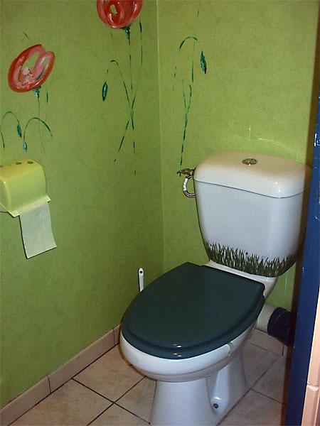 quelle décoration wc - toilettes nature