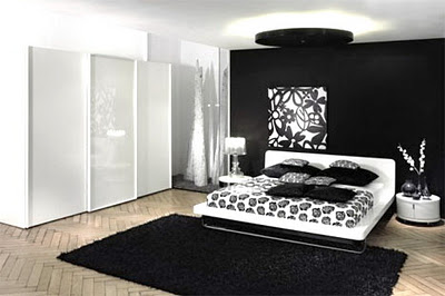 Idee chambre noir et blanc design de maison - Idee deco chambre noir et blanc ...