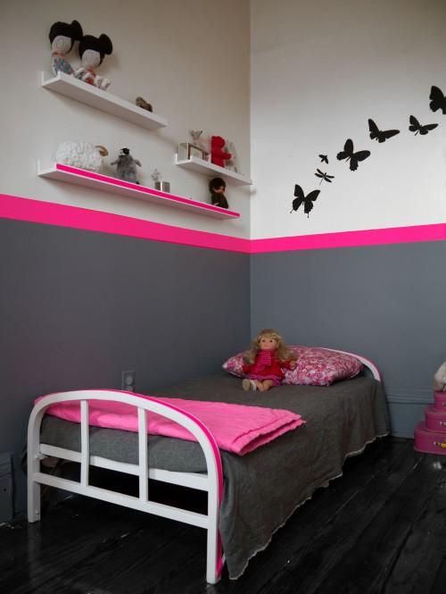 Mod le id e d co chambre fille gris for Idee deco chambre gris