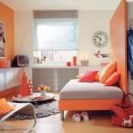 idée déco chambre garçon orange