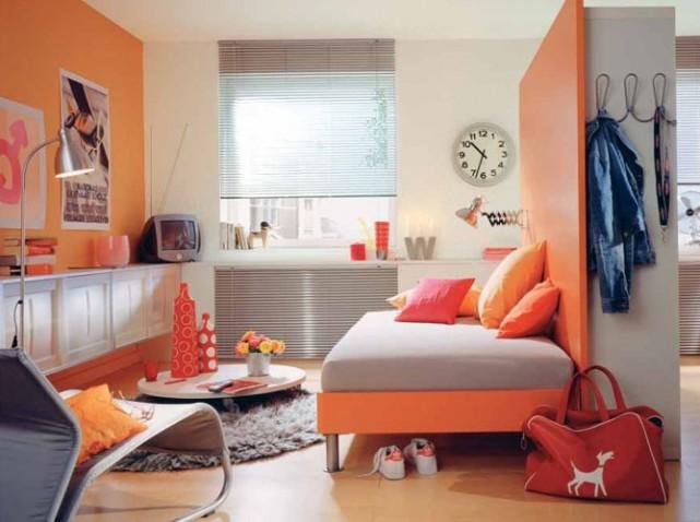 Inspiration id e d co chambre gar on orange - Inspiration deco chambre ...