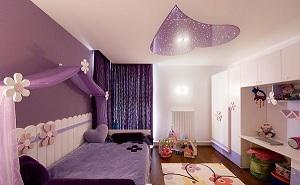 style idée déco chambre garçon violet