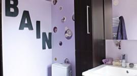idée déco salle de bain stickers