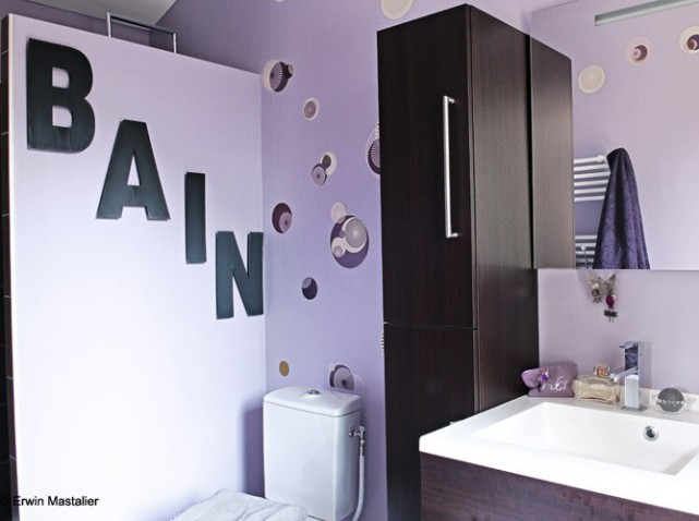 Id e d co salle de bain stickers for Decoration maison salle de bain