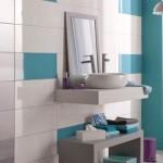 idée déco salle de bain turquoise