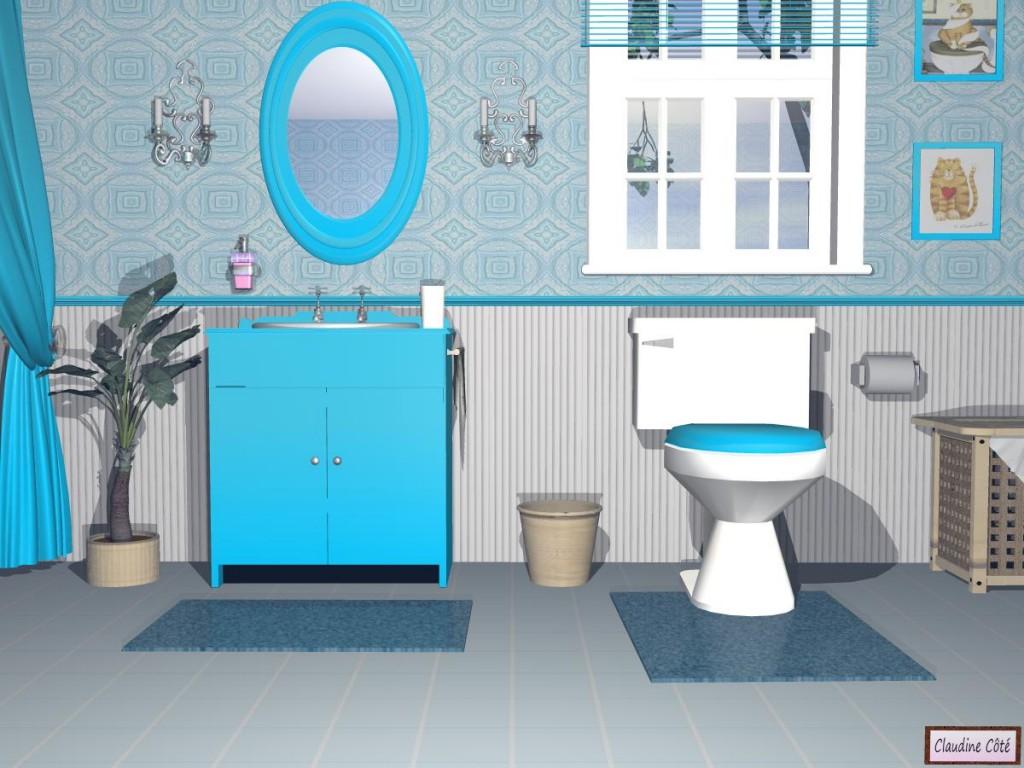 déco pour salle de bain turquoise
