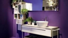 idée déco salle de bain violet