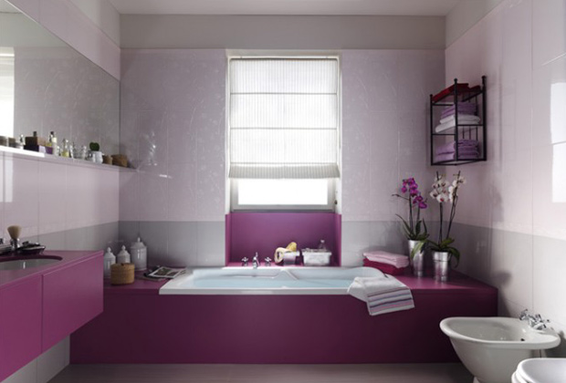 id e d co salle de bain violet. Black Bedroom Furniture Sets. Home Design Ideas