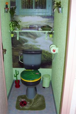 photo idée déco wc - toilettes nature