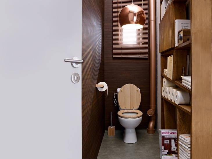 conseil idée déco wc - toilettes taupe