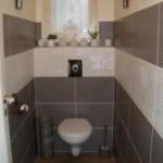 idée déco wc - toilettes taupe