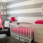 ambiance chambre bébé gris et blanc
