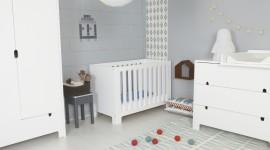 ambiance chambre bébé gris et rouge