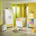 ambiance chambre bébé jaune